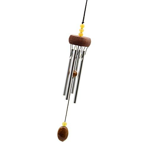 Sharplace 30x4cm Orientalisches Metall Windspiel Klandspiel für Garten Balkon, Fengshui Dekor - Kaffee