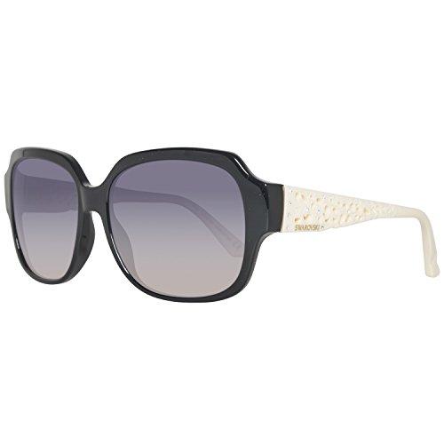 Swarovski Damen SK0054-5805B Sonnenbrille, Schwarz (Black/Gradient Smoke), 58