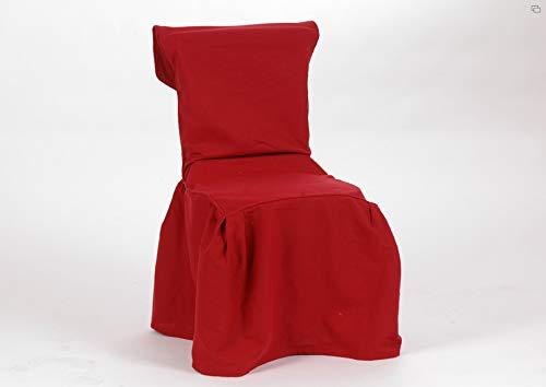 Housse de chaise en coton, de couleur rouge, Amadeus