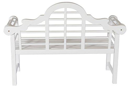 Villana Gartenbank, Holz, weiß, 180 x 90 x 84 cm - 7