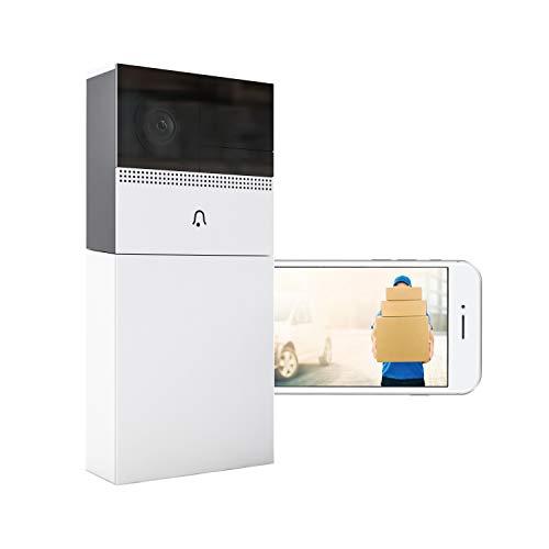 nordnorm, WLAN Türsprechanlage mit Kamera, Funk Video Türklingel - Gegensprechanlage - Bewegungsmelder - Nachtsicht - Zugriff per Smartphone App für Android/iPhone (ohne Akku nutzbar)