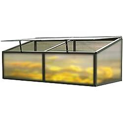 OUTFLEXX Hochbeet-Aufsatz aus Alu/Hohlkammerplatten in Anthrazit, 176x86x60 cm für Frühbeete, Hügelbeete und Gartenbeete zum Schutz der Blumen, Pflanzen, Gemüse und Kräuter vor Witterungseinflüssen