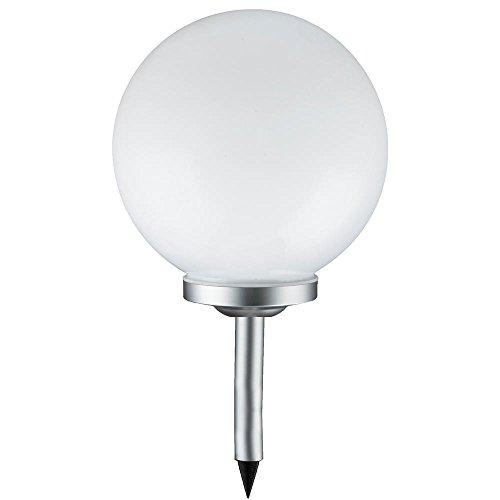 Grafner XL Solarkugel Ø30 cm | LED | mit Erdspieß | Wegleuchte Gartenlampe Kugelleuchte LED-Leuchte Gartenleuchte Solar Kugel