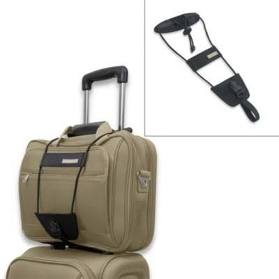 Travel Luggage Suitcase Adjustable Belt Add A Bag Strap Carry On Bungee Travel (Black)
