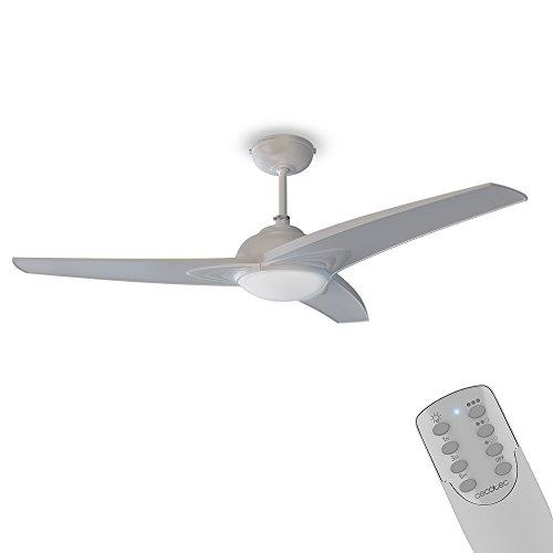 """Cecotec ForceSilence Aero 460 Ventilador de Techo 42"""" / 106 cm, 3 Aspas, 60 W, 3 Velocidades, Función Invierno, Mando a Distancia, Color Blanco"""