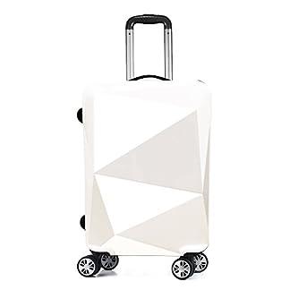 PARTYPRINCE Equipaje de cabina blanco blanco 68*40*26cm