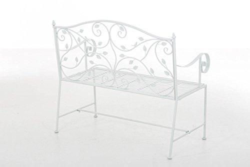 CLP Gartenbank MAGDA im Landhausstil, Eisen lackiert, 106 x 52 cm Weiß - 3