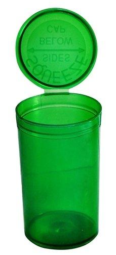 50 x 19 Dram / 80ml Pop Top Squeeze Flaschen Behälter Fläschchen RX - durchsichtig grün - Kind Widerstansfähig FDA anerkannt medizinischer Qualität Plastik (pp-tr-gr-50)