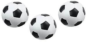 Lena 62162 - Juego de 3 Pelotas de fútbol Suaves, Color Blanco y Negro Pelotas de fútbol Blandas para Uso en Interiores y Exteriores, Pelotas de Deporte Suaves, Pelotas de Juego para niños de 12 m