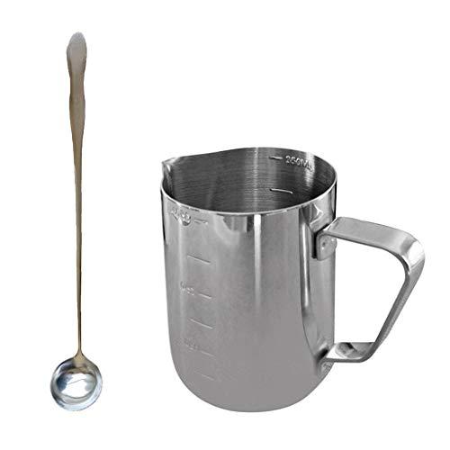 FLAMEER 350ml Edelstahl Kerze Seife Gießen Topf Tasse \ Wachs Schmelzen Rührlöffel - Schmelztiegel Für Wachs