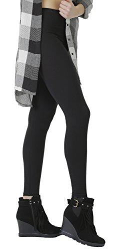 BeLady Damen Leggings Knöchellang aus Baumwolle Blickdichte Leggins Viele Farben (Schwarz, M - 38)