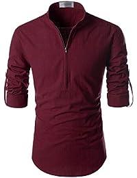 Jeevaan 100% Linen Designer Short Kurtas for Men's