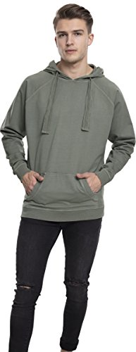 Urban Classics Herren Kapuzenpullover Garment Washed Terry Hoody Grün (Olive 176)