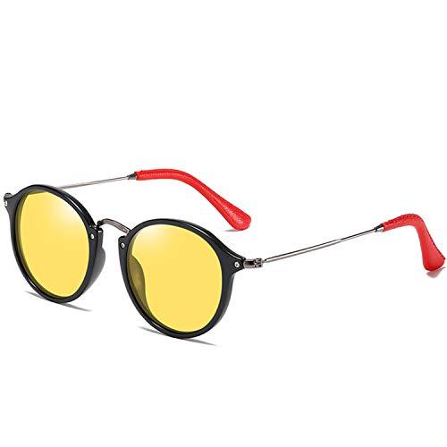 ShengEnn Sonnenbrille für Frauen-Männer polarisierte Sonnenbrille Damenmode Edelstahl Sonnenbrille Großhandel PU Ledertasche gelb