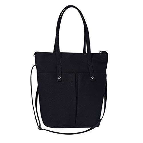 Luckycat Mujer de Bolsos de Mano Grande Bolso de Hombro Bolso Tote Bag Bolsos Shopper Bolso de cuero de la Lona Gran capacidad Bolsos de Mujer