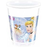 Procos 85687–Vasos Plástico Disney Princess Cenicienta (200ml), 8piezas, azul