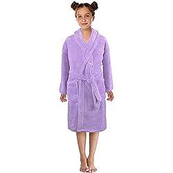 KUKICAT Peignoir Unisexe Service à Domicile Couleur Unie Peignoir de Bain Vêtements pour Enfants Sleepwear
