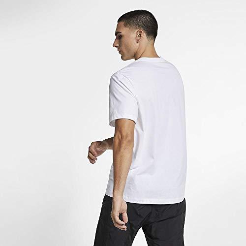 Nike Herren Jumpman Flight HBR Tee T-Shirt, White/Black, L