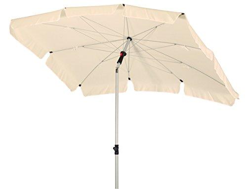 GoodSun Sonnenschirm BE, natur, 200x130 cm rechteckig, Gestell Stahl/Kunststoff, Bespannung Polyester, 2.9 kg