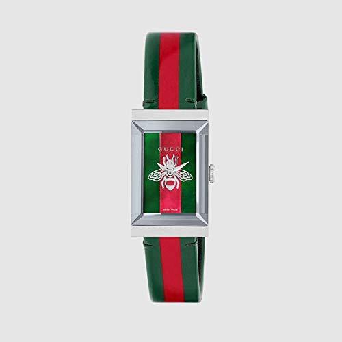 Reloj Gucci de Mujer g-Frame 21x34 mm Trama de la Web y el Rojo YA147408