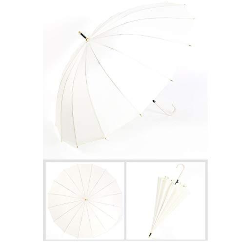 DYHOZZ 16 Paraguas Largo asa Hueso Paraguas Anti-Fuerte