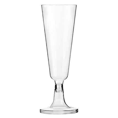 DKEyinx 12stk Tasse 150ml Wegwerf Sektkelche,Wein Eis Dessert Verkostung Cup, Party Weinglas 1#