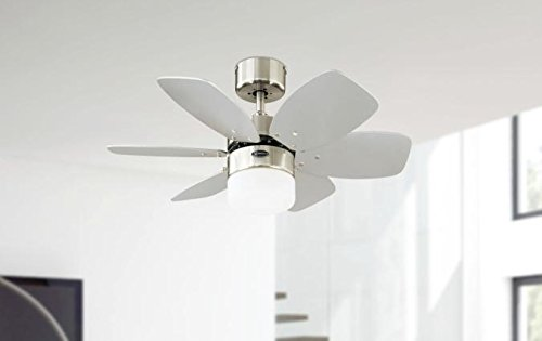 31Uv XutqmL - Westinghouse Lighting 78788 Flora Royale One-Light 76 cm Six Indoor Ceiling Fan, Opal Frosted Glass, Satin Chrome Finish…