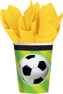 football-soccer-paper-party-cups-pack-of-8