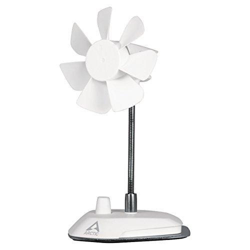 Arctic Breeze - Elegante Ventilatore da Tavolo Usb con Collo Flessibile e Velocità Regolabile - Bianco