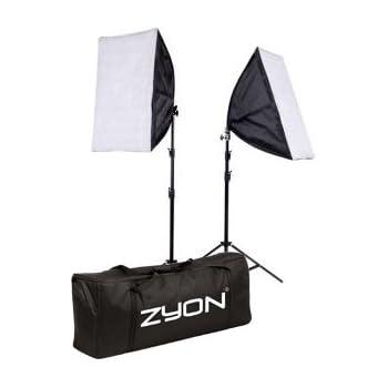 2 x Continuous Lighting Kit 50x70cm Softbox Soft Box Photo Studio Set Light Bulbs Lamp 5500K 85W x2 Photography 50 x 70 cm Softboxes UK Plug
