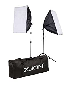 2 x Continuous Lighting Kit 50x70cm Softbox Soft Box Photo Studio Set Light Bulbs Lamp 5500K 85W x2 Photography 50 x 70 cm Softboxes UK Plug