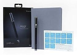 Livescribe Aegir Smartpen, Black Dolphin Professional Edition Bundle - Beinhaltet A5 Großes Executive lined Journal, zusätzliche Tintennachfüllpackung und Adna-Aufkleber
