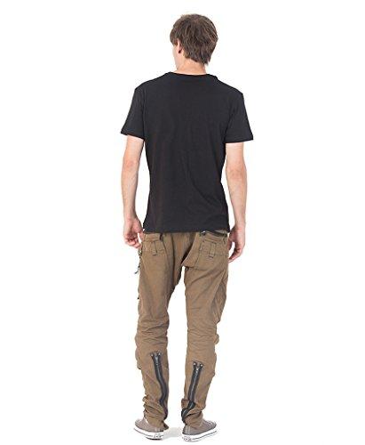 SOL Trimurti Herren T-Shirt 100% Bedruckt mit exklusivem Psychodelischem Mandala Design Schwarz