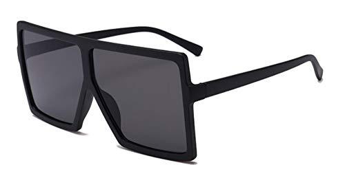 MINGMOU Übergroße Shades Woman Sonnenbrillen Black Fashion Square Brillen Big Frame Sonnenbrillen Vintage Retro Brillen Unisex Oculos Feminino, 1