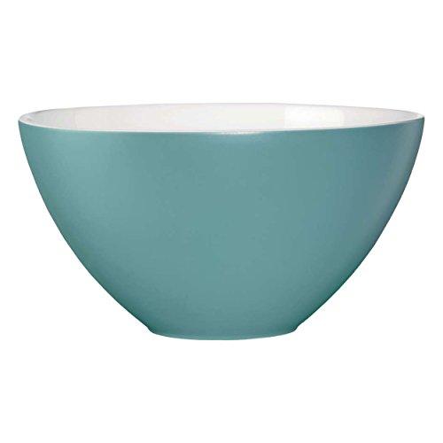 ASA Nuance Bol en céramique, Blanc/Turquoise, 29,5 cm cm
