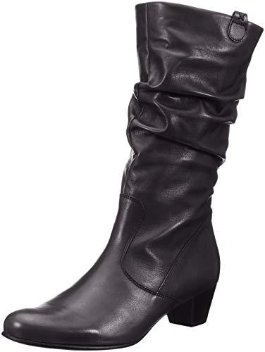Low Back Leder Schwarz (Gabor Shoes Damen Comfort Basic Hohe Stiefel, Schwarz (Micro) 57, 38.5 EU)