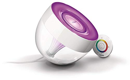 Philips Living Colors Iris, EEK A, Energiesparende LED-Technologie mit 10 Watt, 16 Millionen Farben, mit Fernbedienung, klar 7099960PH