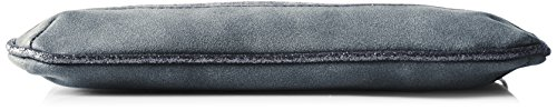 TOM TAILOR Denim Damen Tilda Clutch, 1x16x24 cm Grau (Grau)