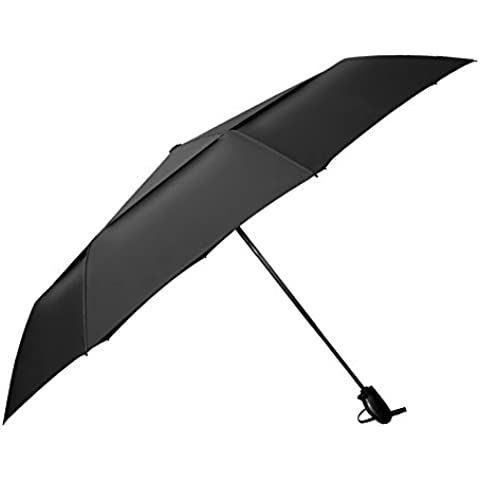 IntimaTe WM Heart Resistencia UV Paraguas De Viaje Plegable Automático Negro