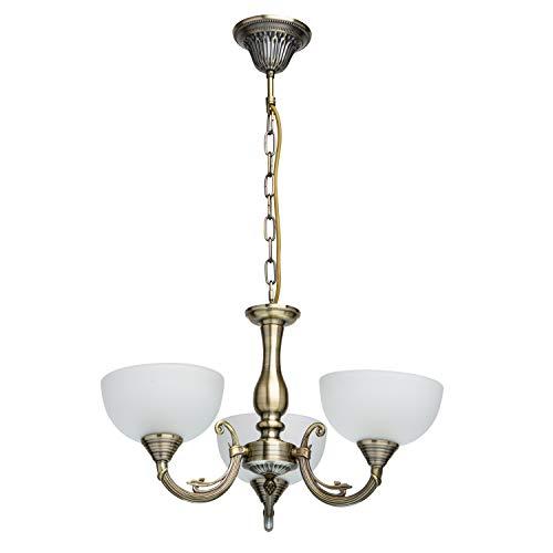 MW-Light 318011103 Lámpara de Techo Metal Color Bronce Antiguo 3 x 60W E27
