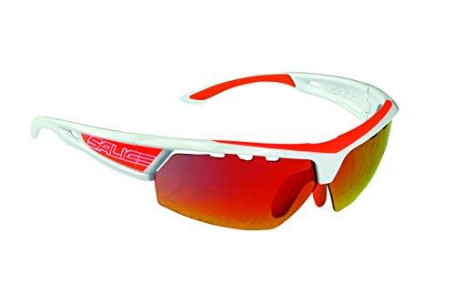 Salice 005RWB Sonnenbrille, Weiß/Orange/RW Rot