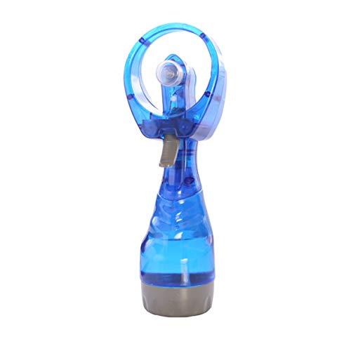 Sairis Mini Ventilatore/Ventilatore a Getto d'Acqua Ventola di Raffreddamento Ventilatore ad Acqua nebulizzata Manuale Batteria Nebulizzatore Negozio Bottiglia Estate Repellente al Calore Blu