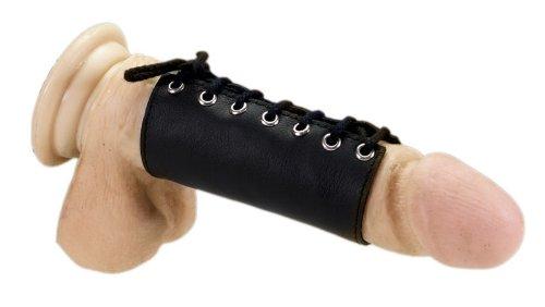 Penismanschette aus Leder zum Schnüren
