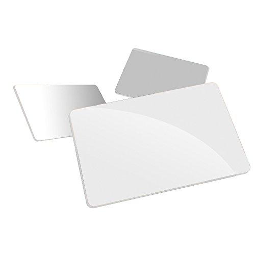 100 x Tarjetas de pvc plásticas blancas tipo VISA ISO 7810 para impresora - INDITAR