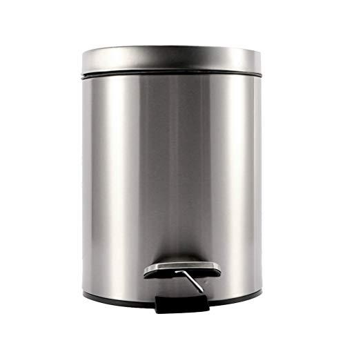 l Küche Mülleimer Runde Schritt Mülleimer mit Deckel Mülleimer für Home Kitchen Badezimmer Büro ()