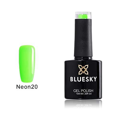 Bluesky UV LED Gel auflösbarer Nagellack 10ml neon lime green, 1er Pack (1 x 10 ml)