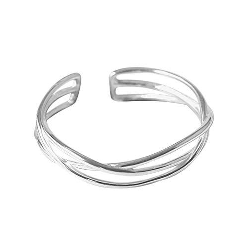 JiaMeng Exquisite hohl persönlichkeit öffnung Ring verstellbaren Ring Metall Ring Ring weiblich + Flanell Aufbewahrungstasche