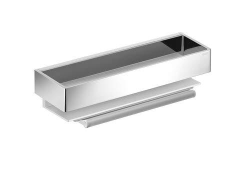 Keuco Duschablage EDITION 11 (Duschkorb 300 x 95 x 82 mm, verchromt Hochglanz; + integriertem Glasabzieher) 11159010000
