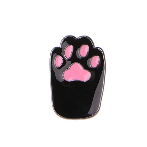 Kofun Brosche, Emaille Pet Katze Hund Pfote Abzeichen Corsage T-Shirt Revers Pins Tier Liebhaber Brosche Schwarz