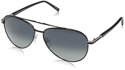 Montblanc Herren Mont Blanc Sunglasses Mb702S 02B-59-13-140 Sonnenbrille, Schwarz, 59